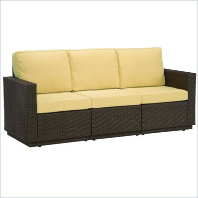 Home Styles Riviera Three Seat Sofa in Harvest