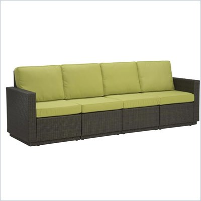 Home Styles Riviera Four Seat Sofa in Green Apple