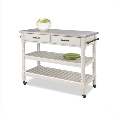 Home Styles Savannah Stainless Steel Kitchen Cart 