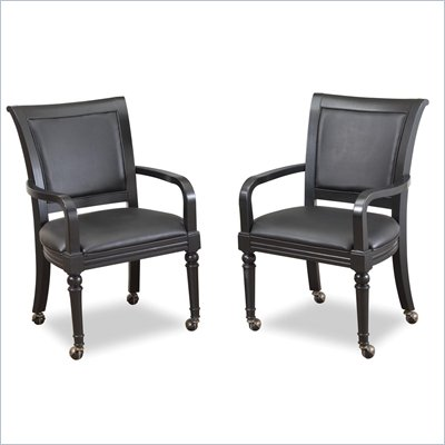 Home Styles St. Croix Game Chair Pair with Casters
