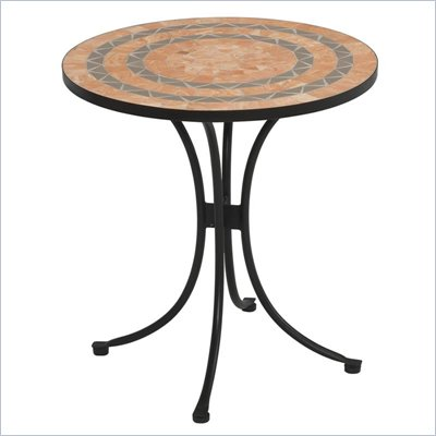 Home Styles Terra Cotta Bistro Table in Terra Cotta