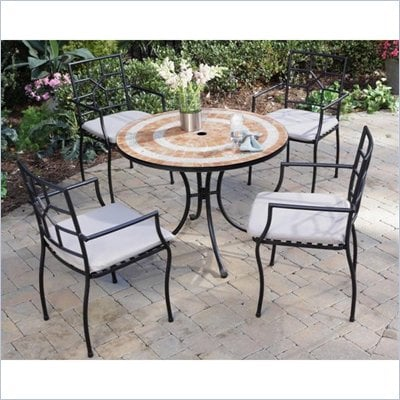 Home Styles Terra Cotta Bistro Table &amp; 2 Cambria Chairs in Terra Cotta