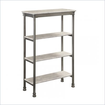Home Styles The Orleans Four Tier Shelf in Gray and Marble