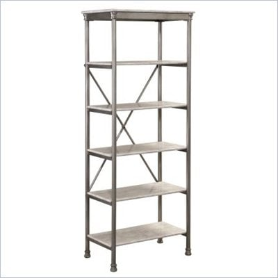 Home Styles The Orleans Six Tier Shelf in Gray and Marble