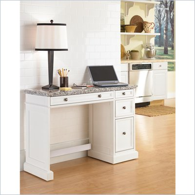 Home Styles Traditions Utility Desk with Salt &amp; Pepper Granite Top