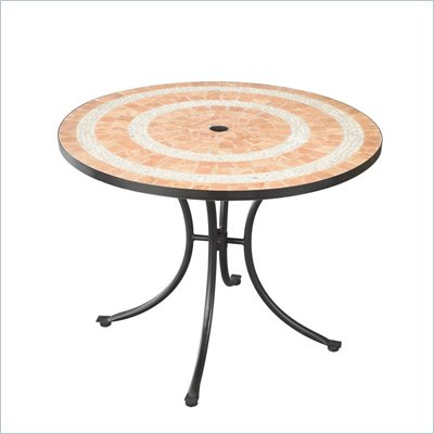 Home Styles Valencia Outdoor Dining Table in Terra Cotta