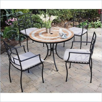 Home Styles Valencia Table & 4 Cambria Chairs in Terra Cotta