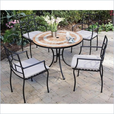 Home Styles Valencia Table &amp; 4 Cambria Chairs in Terra Cotta