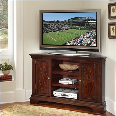 Home Styles Windsor Corner Entertainment TV Stand in Windsor Cherry