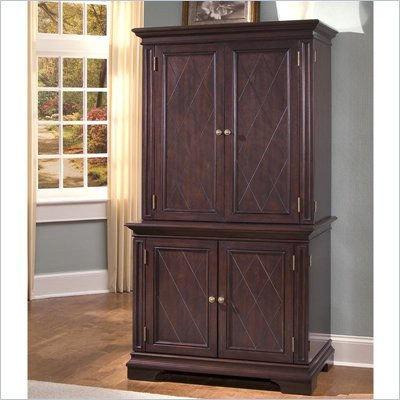 Home Styles Windsor Compact Computer Desk &amp; Hutch in Windsor Cherry