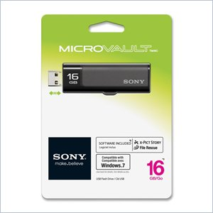 Sony 16GB Micro Vault USM16GN New Entry Series USB2.0 Flash Drive