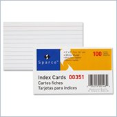 Sparco Ruled Index Card