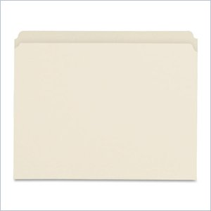 Sparco Straight Tab Cut File Folder