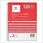 Sparco 3-Subject Quality Wirebound Notebook
