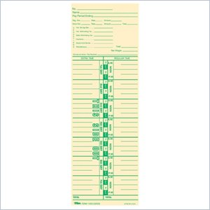 Tops Payroll Calculation Time Card