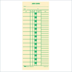 Tops Job Costing Time Card