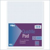 Tops White Quadrille Pad