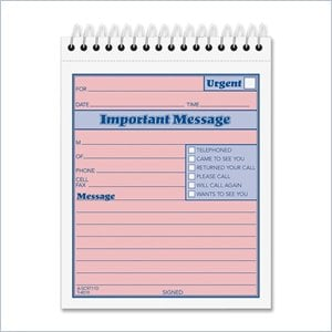 Tops Duplicate Important Message Book