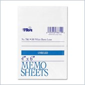 Tops White Bond Memo Sheets
