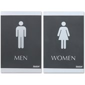 U.S. Stamp & Sign ADA Restroom Sign for Men & Women