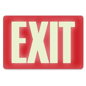 U.S. Stamp &amp; Sign Glow in the Dark EXIT Sign