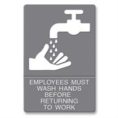 U.S. Stamp & Sign ADA Wash Hands Sign