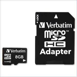 Verbatim 8GB 96807 microSD High Capacity (microSDHC) Card - Class 4
