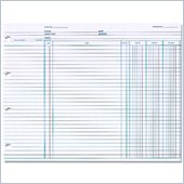 Wilson Jones Balance Ledger Columnar Sheet