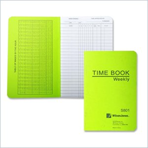 Wilson Jones Foreman's Pocket Size Time Book