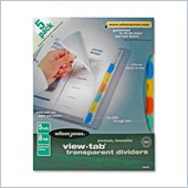 Wilson Jones View-Tab Transparent Divider Set