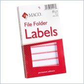 Maco FF-L11 Color Coded Type/Handwrite File Folder Labels