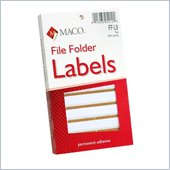 Maco FF-L9 Color Coded Type/Handwrite File Folder Labels