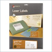 Maco Round Foil Laser Label