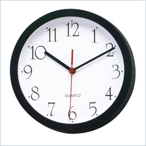 Lorell 8&quot; Quartz Round Wall Clock LLR01452