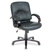 Lorell Woodbridge Series Managerial Mid-Back Chair