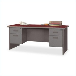 Lorell Durable Double Pedestal Desk