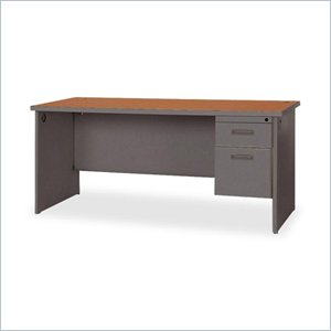 Lorell Durable Single Pedestal Desk