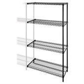 Lorell Industrial Wire Shelving Add-On-Unit