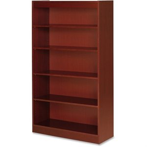 Lorell Five Shelf Panel Bookcase