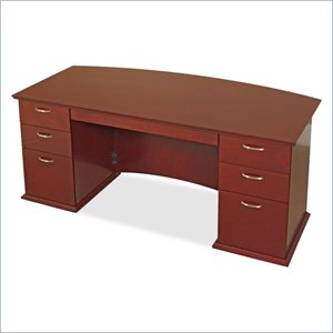 Lorell Contemporary 9000 Bow Front Desk