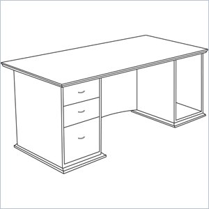 Lorell Contemporary 9000 Pedestal Desk