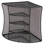 Lorell Mesh Corner Desktop Organizer