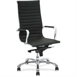 Lorell Modern Chair Srs High-back Leather Chair