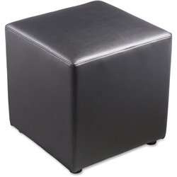 Lorell Leather Cube Chair