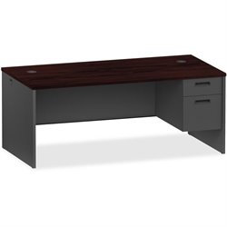 Lorell Mahogany/Charcoal Modular Desk Furniture