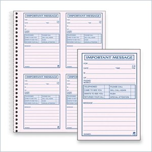 Adams Carbonless Important Message Pad