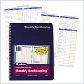 Adams Monthly Bookkeeping Record