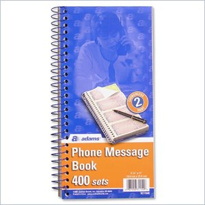 Adams Duplicate Phone Message Book
