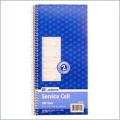 Adams Spiralbound Service Call Book