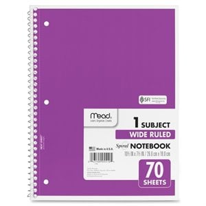 Mead One Subject Notebook